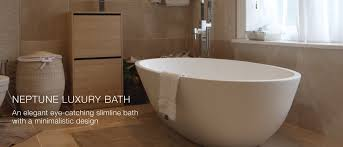 luxury bath neptune luxury freestanding slimline bath