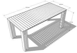 plan pour fabriquer un bureau en bois une table à partir du mécano mob