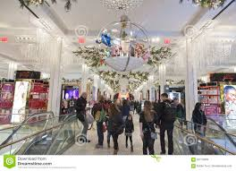 Macy S Herald Square Floor Plan by Shoppers Inside Macy U0027s At Christmas Time In Nyc Editorial Photo