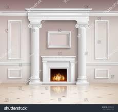 realistic classic interior room design background stock vector