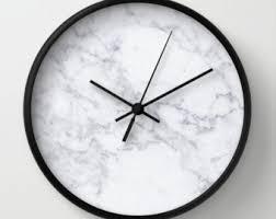 Home Decor Clocks Marble Clock Etsy