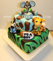 baby safari animals baby shower cake elephant cakecentral com