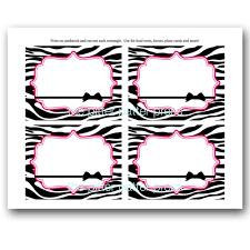 zebra print shower invitations