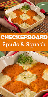 checkerboard spuds squash dinner table diabetic recipes and