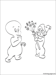 good ghost casper coloring coloring pages