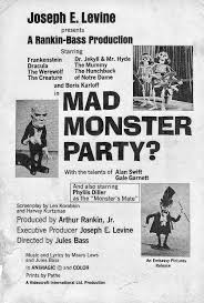 monster list of halloween projects rankin bass u0027s 1967 animated u201cmad monster party u201d the grooviest