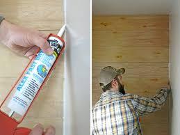 Installing Shiplap How To Install A Faux Shiplap Wall Making Manzanita