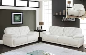 White Leather Tufted Sofa 1066 White Sofa Italmoda Furniture Store
