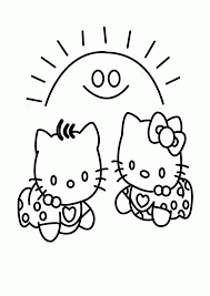 hello kitty babies learn to coloring
