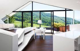 futuristic homes interior slope roof house with futuristic interiors