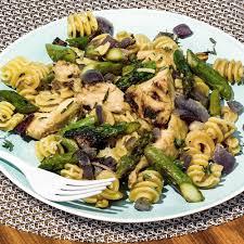 roasted garlic artichoke and asparagus pasta recipe myrecipes