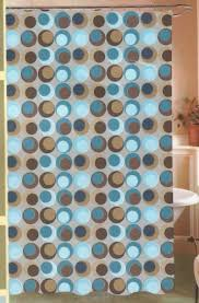 Maytex Mills Shower Curtain Amazon Com Circus Geo Geometric Circles Big Dots Peva Vinyl