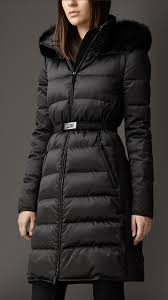 fur trim technical satin puffer coat burberry shopping
