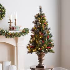 pre lit crestwood spruce potted entryway tree hayneedle