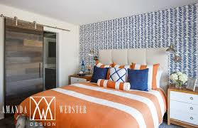 orange and blue bedroom orange and blue bedroom with accent wall contemporary bedroom