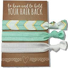 ribbon hair bands 6 pack mint ribbon hair ties kit no