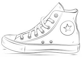 Running Shoe Coloring Page converse shoes coloring page free printable coloring pages