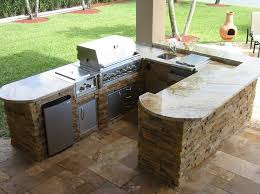 L Shaped Outdoor Kitchen by Outdoor L Shaped Outdoor Kitchen Island With Bbq Grill And Marble