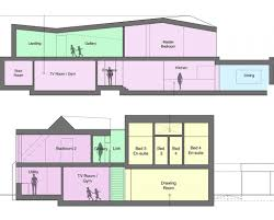floor plan coach house new build hawkes architecture coach