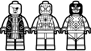 lego spiderman vs lego black bolt vs lego nick fury coloring book