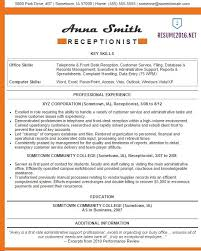 Example It Resumes by Receptionist Resume Examples 2016 U2022