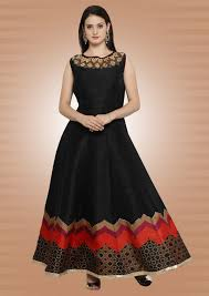 buy online cocktail party wear gown black latest party wear gown
