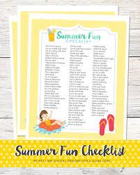 summer fun list printable lil u0027 luna