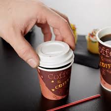 coffe cups choice 4 oz white paper cup travel lid 100 pack