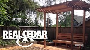 how to build raised deck u0026 trellis realcedar com youtube