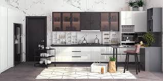 white gloss kitchen floor cupboard l shape white gloss kitchen cabinet op19 l05 oppein the