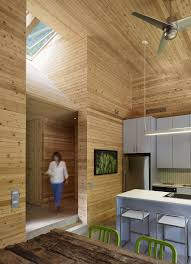 ultra modern cabin blends rustic warmth with modern minimalism stylish kitchen inside the cabin house