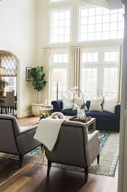 Living Room Blue Sofa by A Blue Sofa Pop Of Color Or Glamorous Statement Piece Blue Door