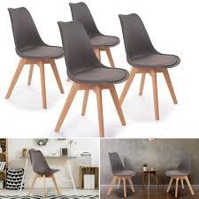 m chaises chaises x4 styles scandinave grises pour salle à manger achat