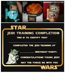 star wars party free printable food cards and certificate oh