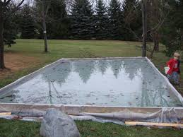 Backyard Rink Kit by Backyard Rink No Liner Outdoor Furniture Design And Ideas