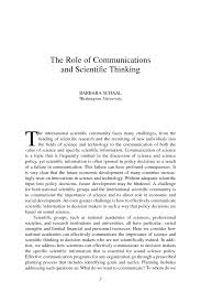 science and society issues the role of communications and