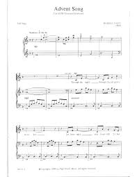 advent song satb by nagy j w pepper sheet