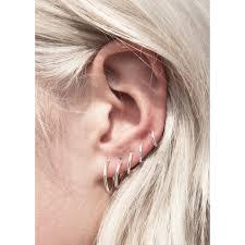 tiny earrings fashionology tiny hoop earrings set 5 pair ears piercing