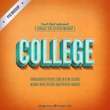 imagenes fotos retro free retro college mockup in psd designhooks