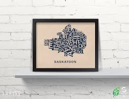 Saskatoon Canada Map by Saskatoon Far Sky Map Works