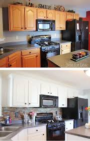 Painting Kitchen Cabinet by Kitchen Cabinet Makeover Reveal Kitchen Makeovers White