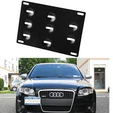 audi q7 front license plate bracket bumper tow hook license plate mounting bracket holder for audi a4