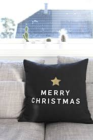 merry christmas u0027 pillow minimalist modern christmas pillow from