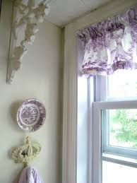 maison decor purple toile valance for the kitchen