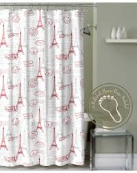 Eiffel Tower Window Curtains by Crest Home Paris Postal Eiffel Tower Shower Curtain Red With