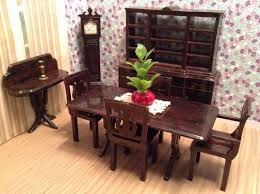 Dollhouse Dining Room Furniture 63 Best Dollhouse Dining Room Images On Pinterest Miniature