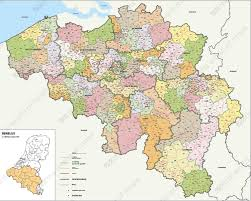 map of begium digital postcode map belgium 2 4 digits 1389 the world of maps