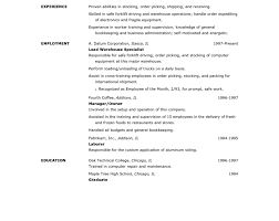 objective for resume examples entry level resume amazing warehouse worker resume warehouse associate