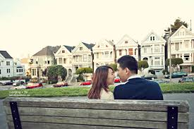 san francisco photographer alamo square engagement san francisco wedding photographer vey