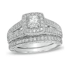 cheap wedding rings sets antique princess 2 carat wedding ring set for in white gold